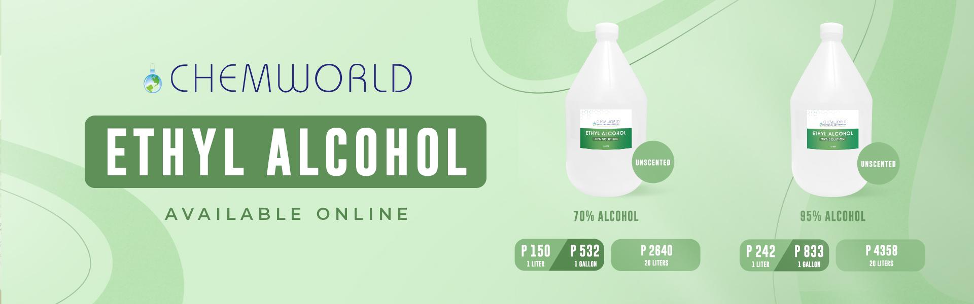 ethyl alcohol banner